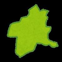群馬県の形のイラストです。