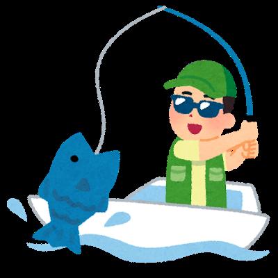 小型の船で釣りを楽しむ人