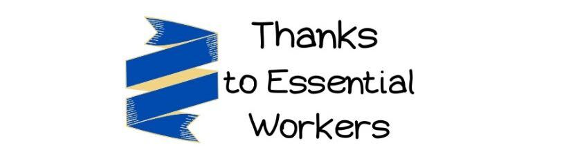 Thanks to Essential Workersのロゴ