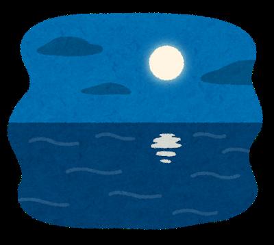 美しい月夜の海
