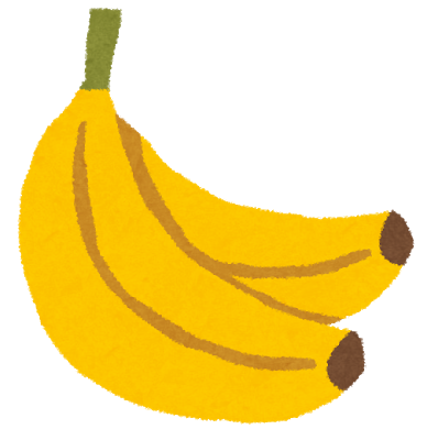 画像「Tさんが頭の中で妄想している、黄色く完熟したバナナのイラスト」