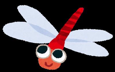 代表的な秋の虫、赤とんぼのイラスト