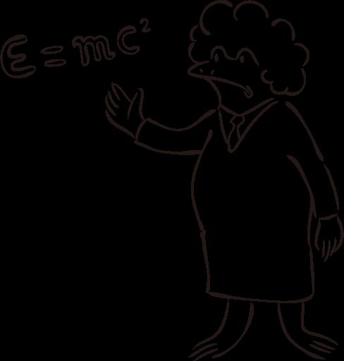 アインシュタインの姿をしたカエル