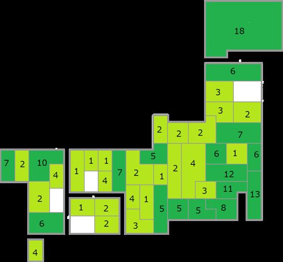 図:回答傾向を示す日本全国図