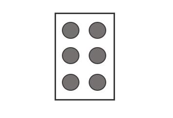 「め」の点字