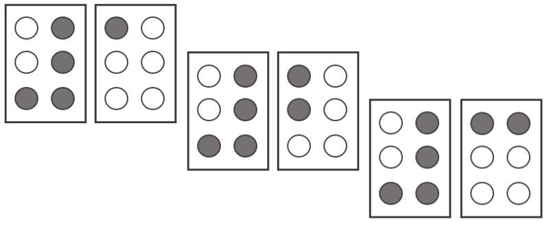 イラスト:「1」「2」「3」の点字